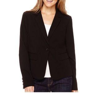 Liz Claiborne Petite Black Suit Blazer Jacket 8P